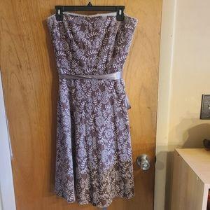 Kay Unger velvet eyelet sleeveless dress